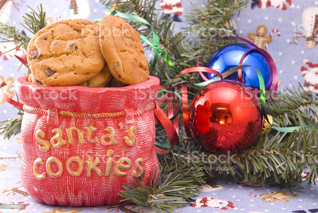 santas cookies royalty-free stock photo