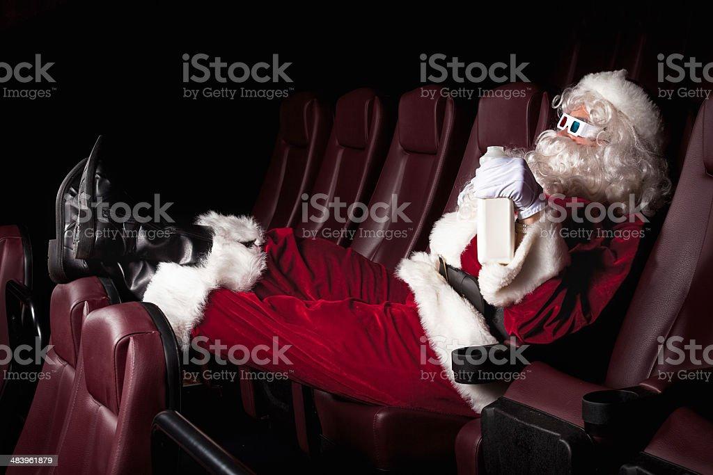 Santa's Day Off - At the Movies stock photo
