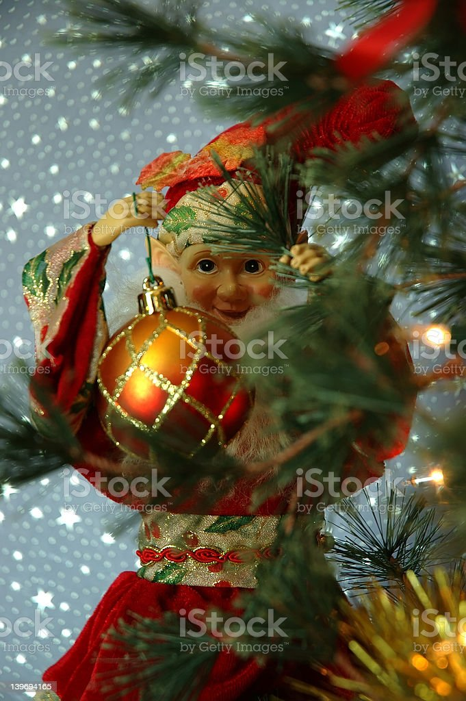 Santa's Elf royalty-free stock photo