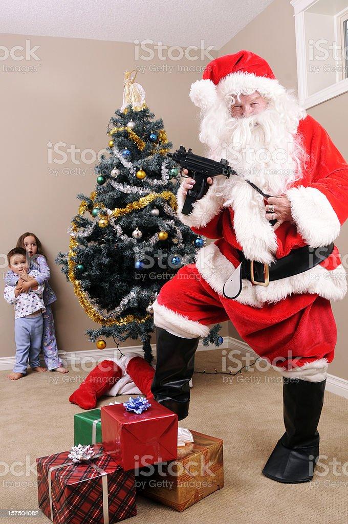 Santa's Gone Bad stock photo