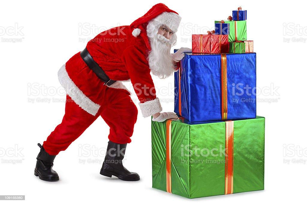 Santa's hard work royalty-free stock photo