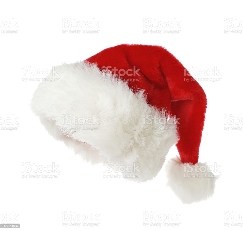 Santa's hat isolated on white background stock photo