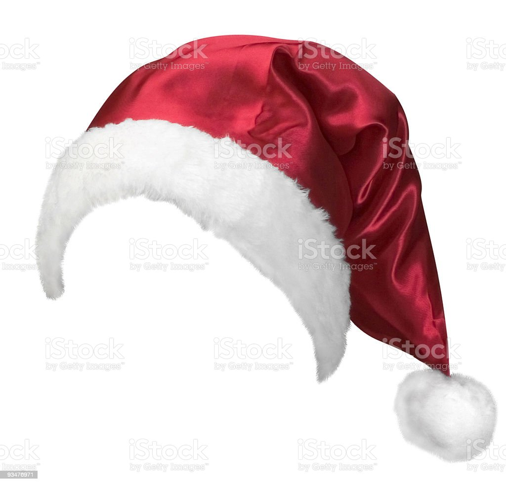 Santas hat stock photo