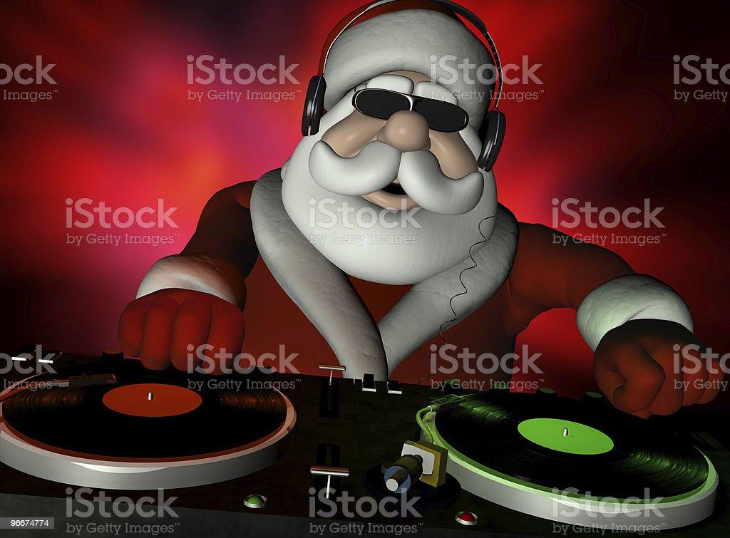 Santa's In Da House stock photo