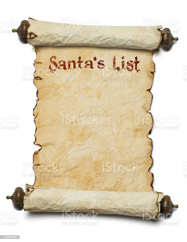 Santa's List stock photo