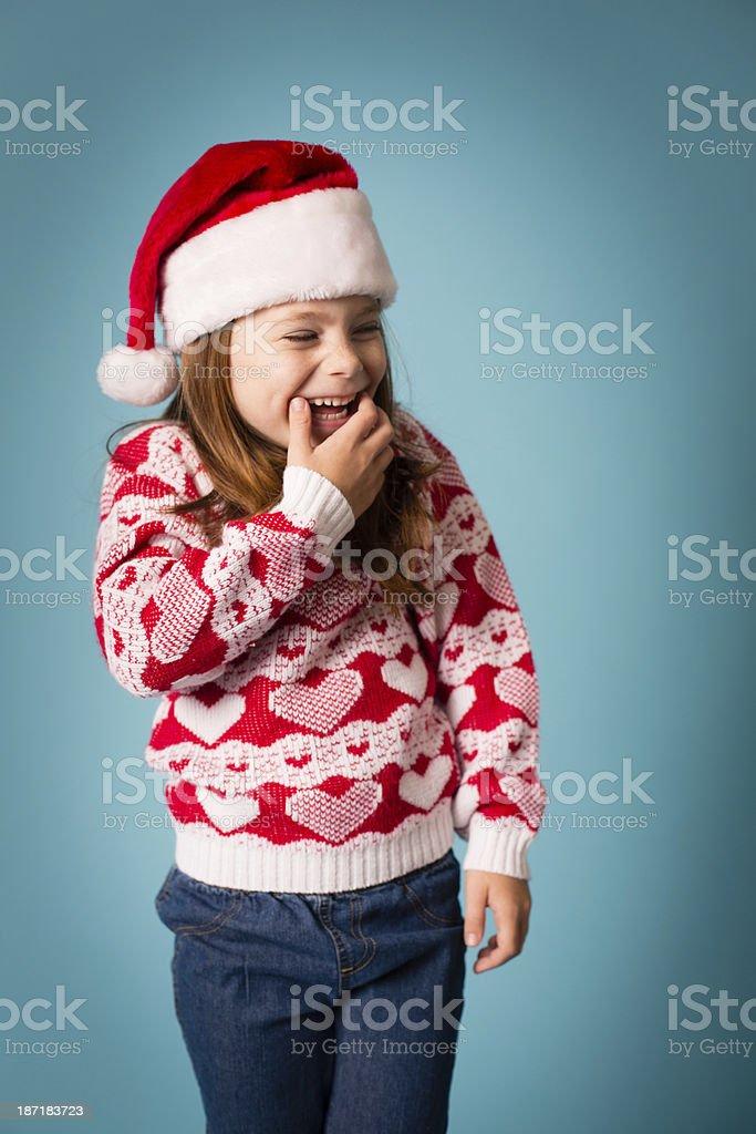 Santa's Little Helper Laughing royalty-free stock photo