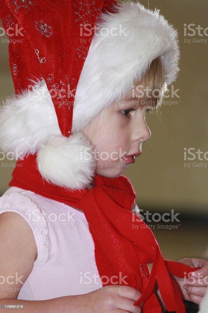 Santa's little helper royalty-free stock photo