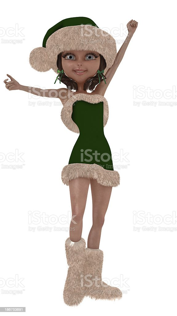 Santa's little helper royalty-free stock photo