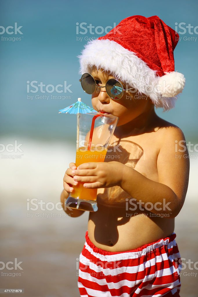 Santa's little in the resort royalty-free stock photo