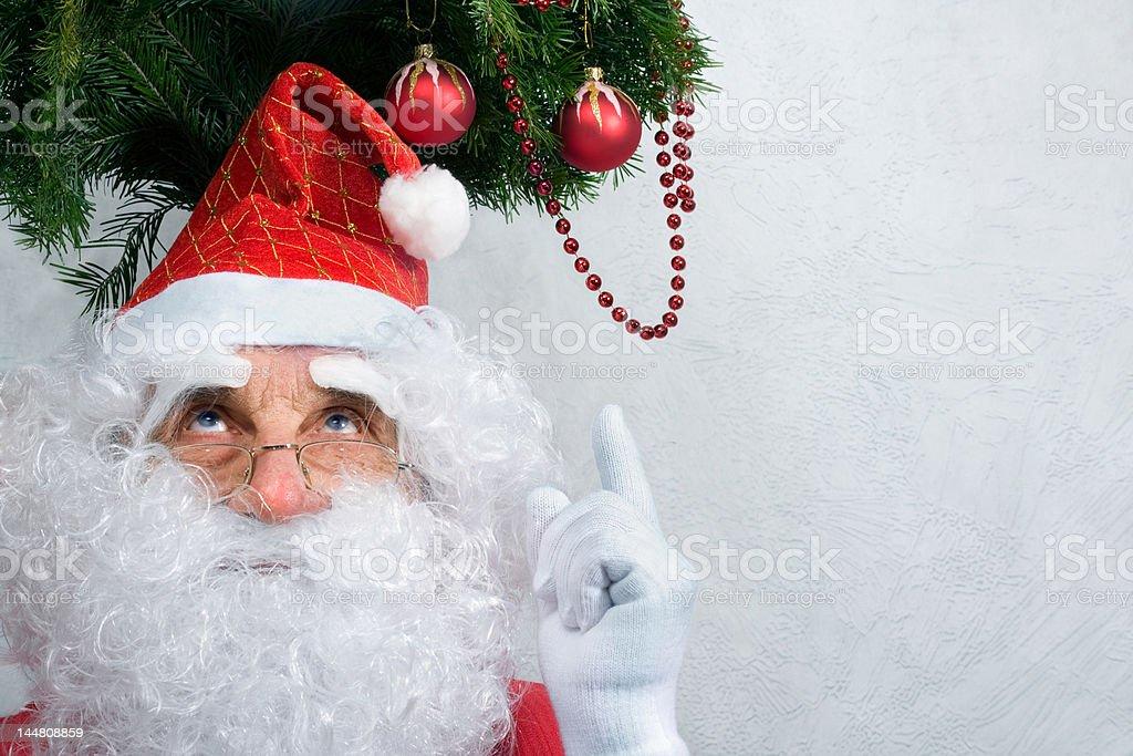 Santa's portrait royalty-free stock photo