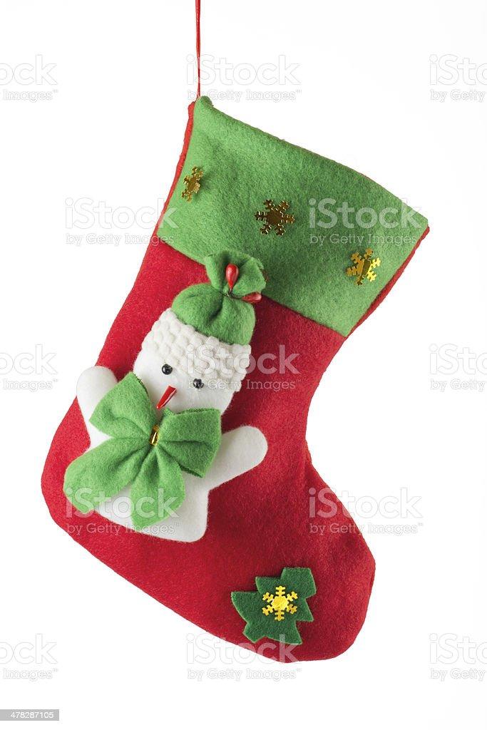 Santa's red stocking royalty-free stock photo