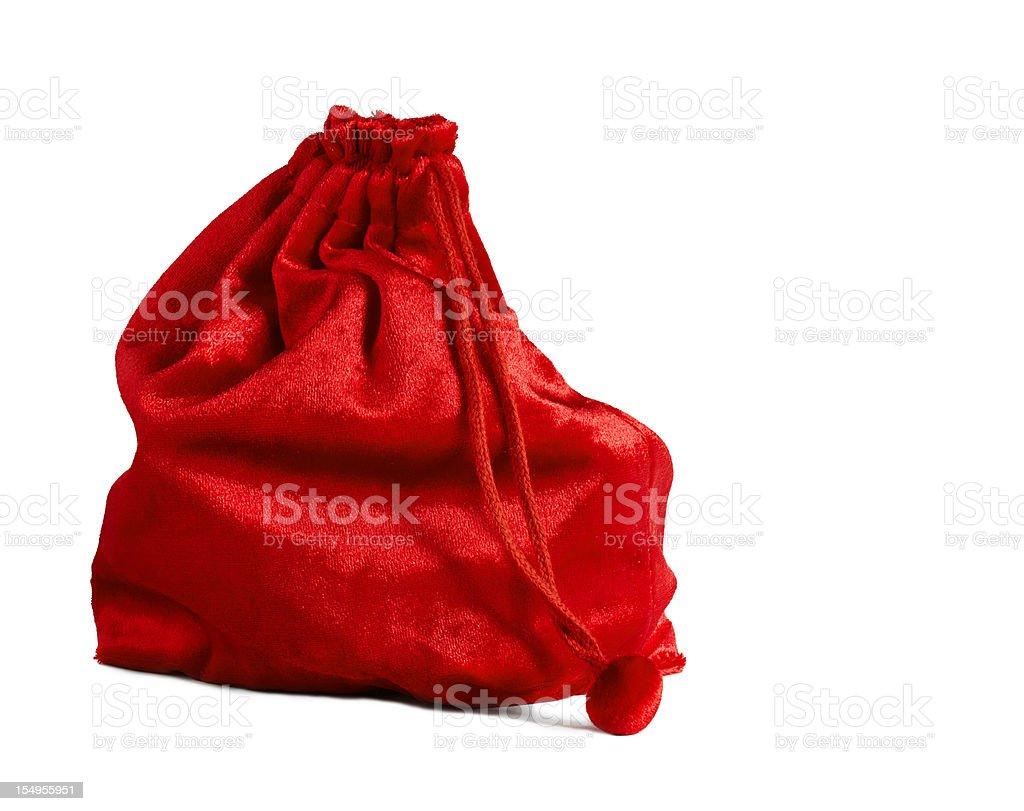 Santa's sack stock photo