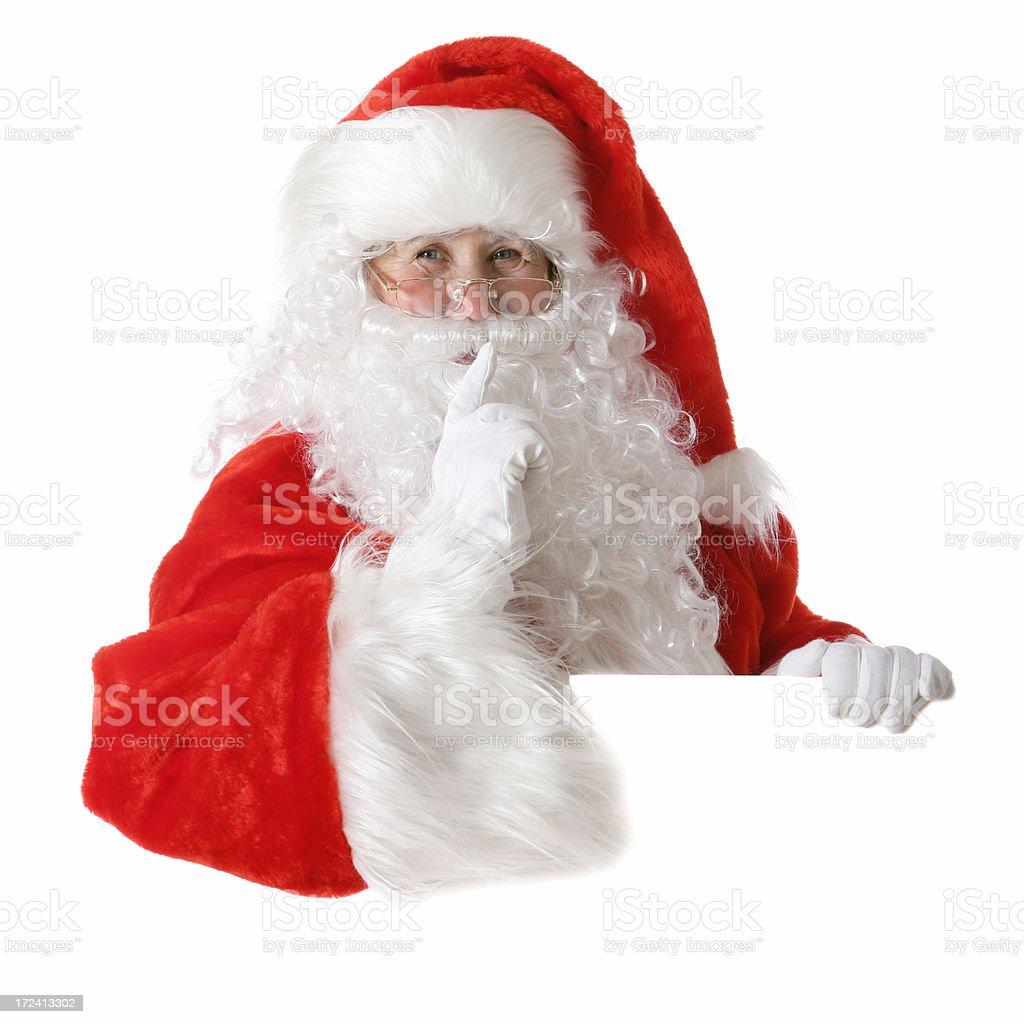 Santa's Secret royalty-free stock photo