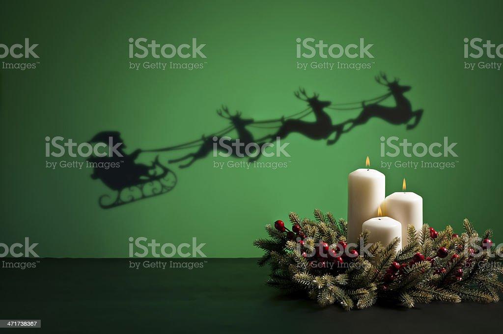 Santas sledge royalty-free stock photo