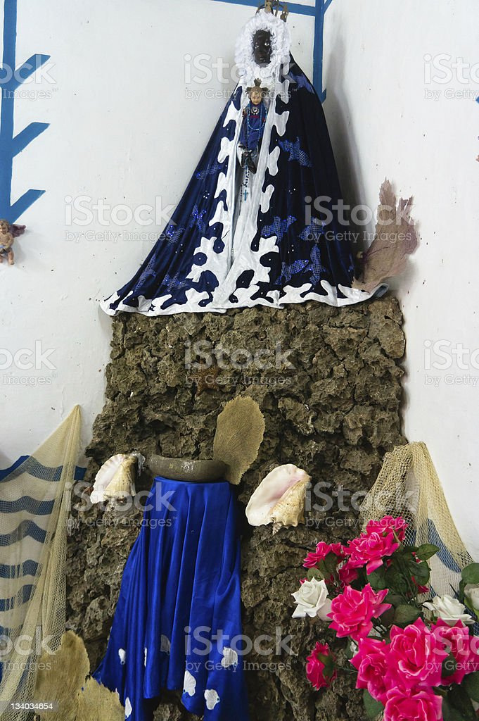 Santeria altar, Trinidad, Cuba stock photo