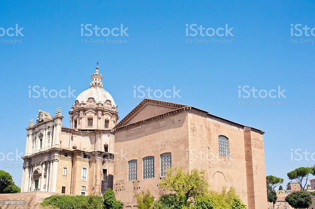 Santi Luca e Martina church in Rome, Italy stock photo