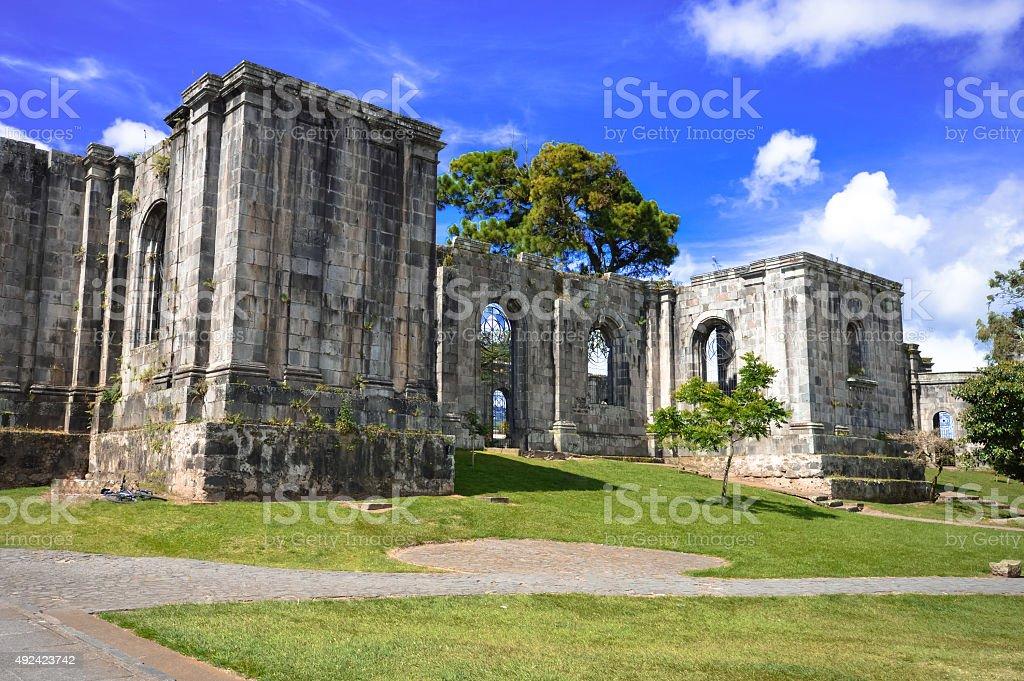 Santiago Apostol Parish Ruins in Cartago, Costa Rica stock photo