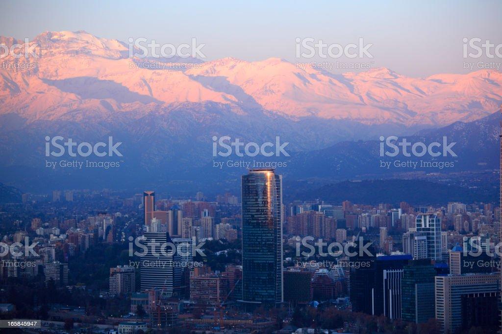 Santiago at Dusk stock photo