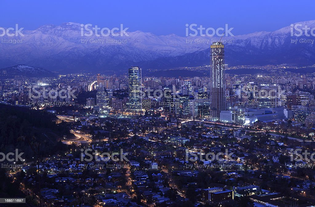 Santiago at Dusk stock photo