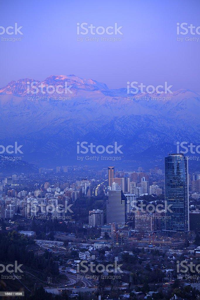 Santiago at Dusk royalty-free stock photo