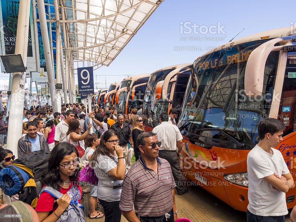 Santiago Bus terminal stock photo