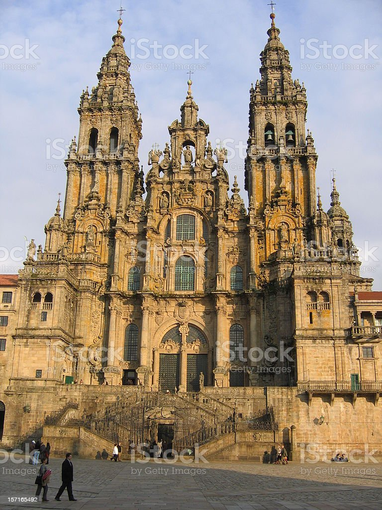 Santiago & Cathedral stock photo