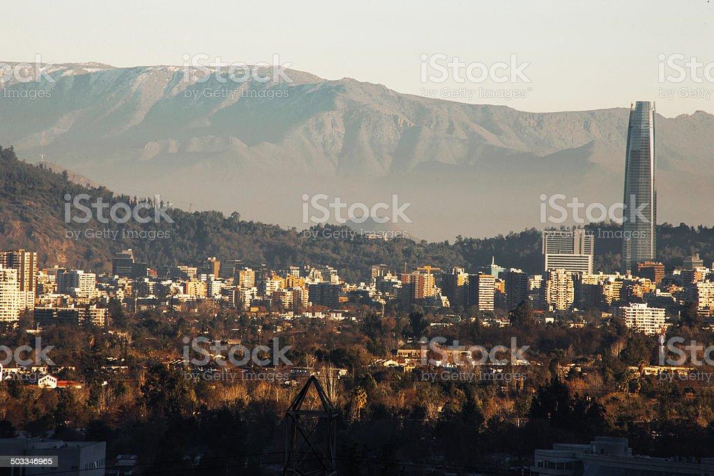 Santiago Chile Skyline stock photo