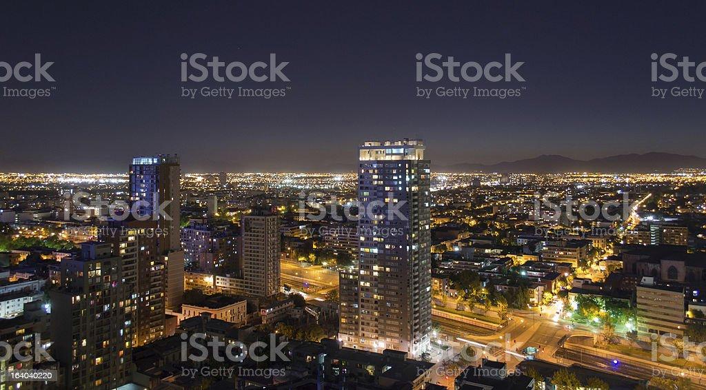 Santiago de Chile at night royalty-free stock photo