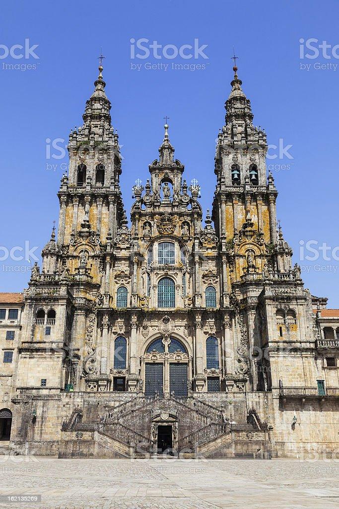 Santiago de Compostela cathedral royalty-free stock photo