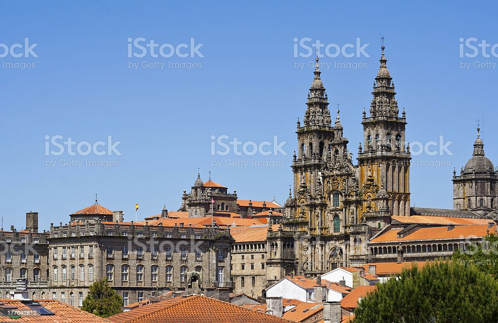 Santiago de Compostela - Cathedral stock photo