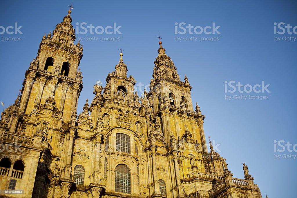 Santiago de Compostela cathedral. stock photo