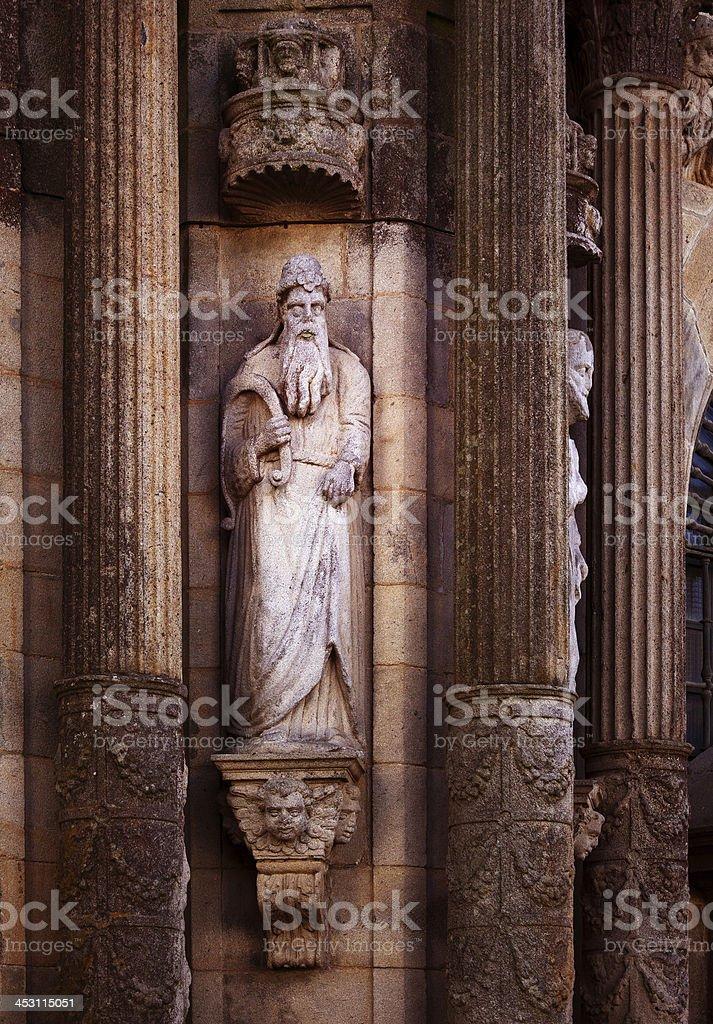 Santiago de Compostela facade royalty-free stock photo
