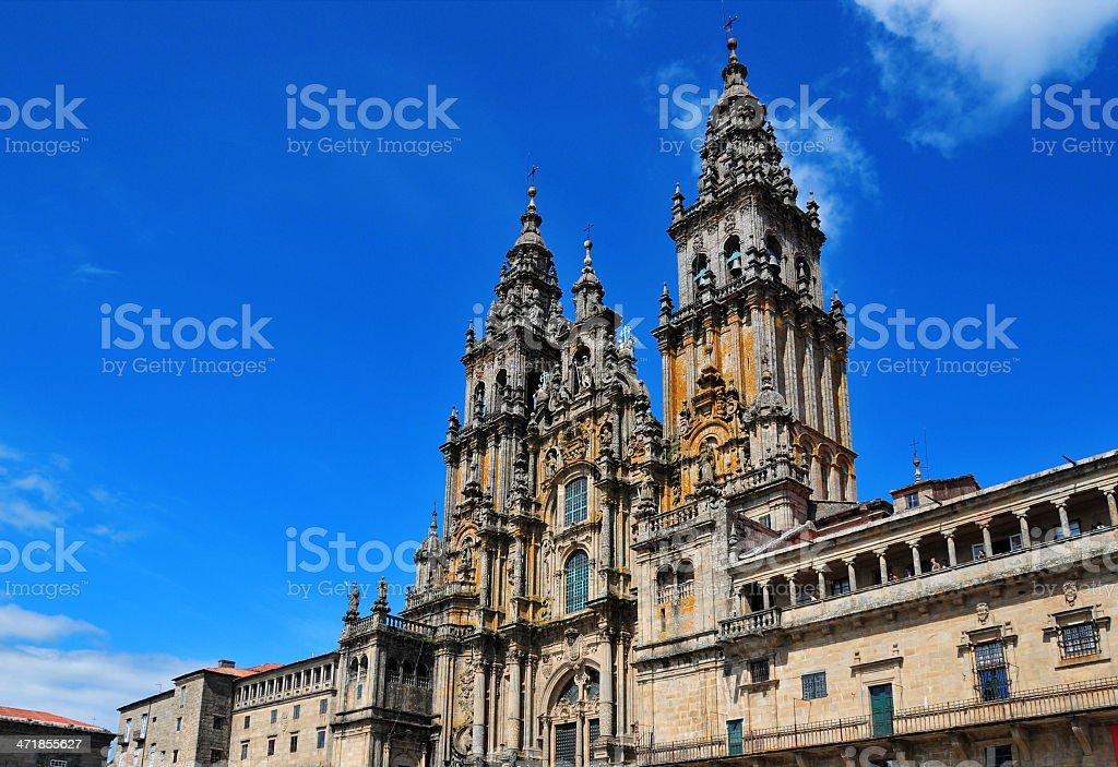 Santiago de Compostela, Galicia / Galiza, Spain: the Cathedral stock photo