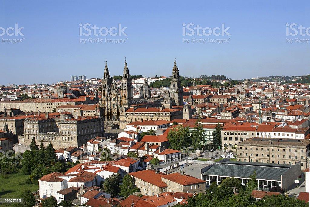 Santiago de Compostela - panoramic stock photo