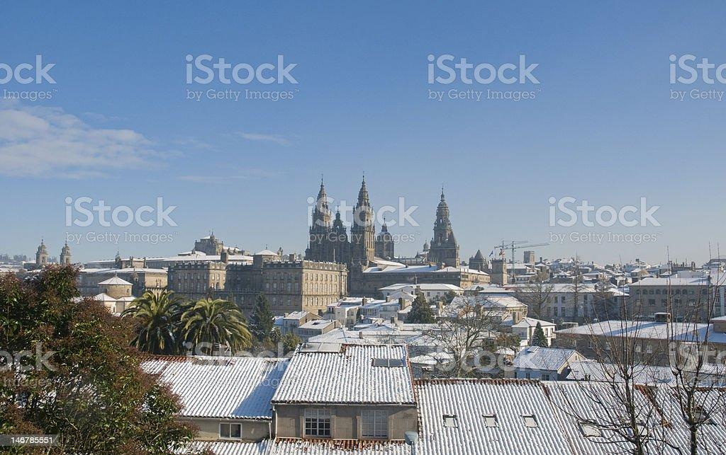 Santiago de Compostela royalty-free stock photo