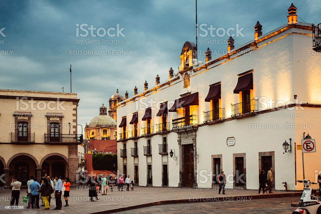 Santiago de Queretaro Mexico stock photo