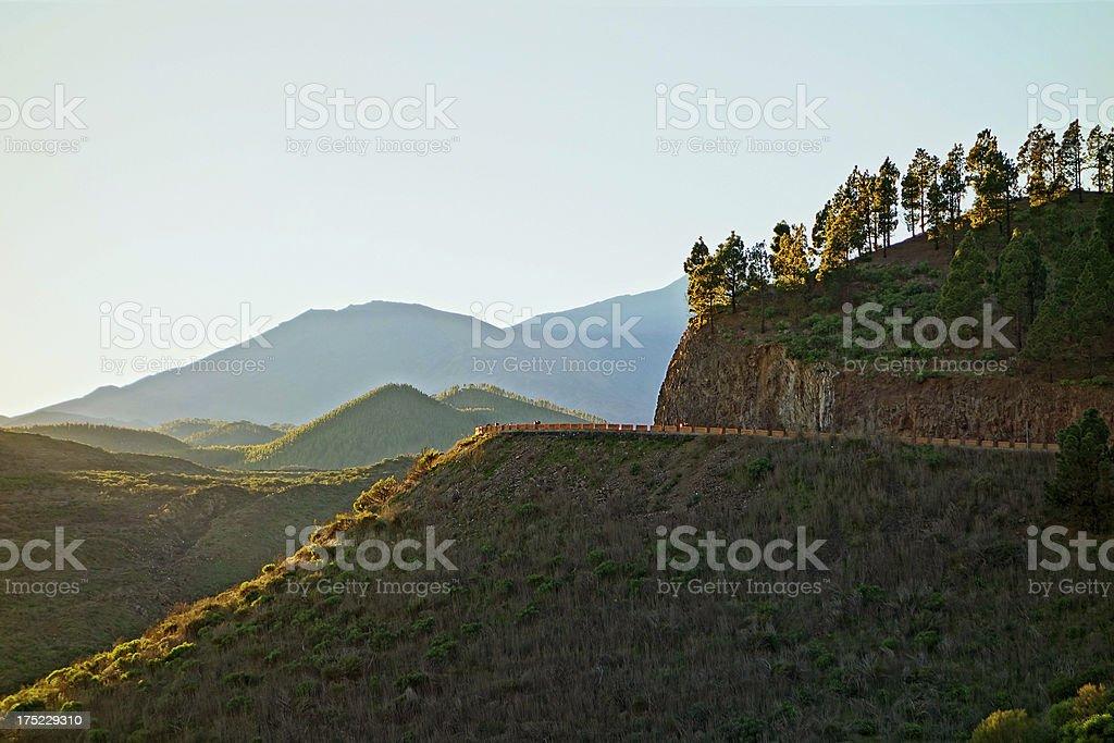 Santiago del Teide road royalty-free stock photo