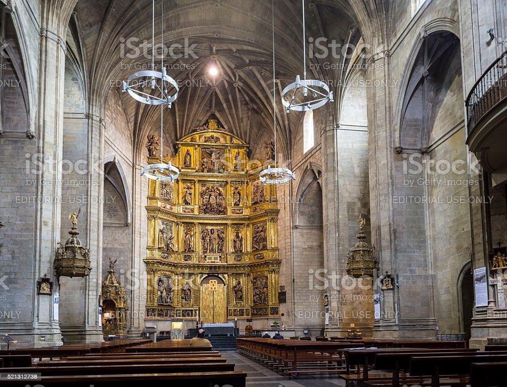 Santiago el Real church Logroño, Spain. stock photo