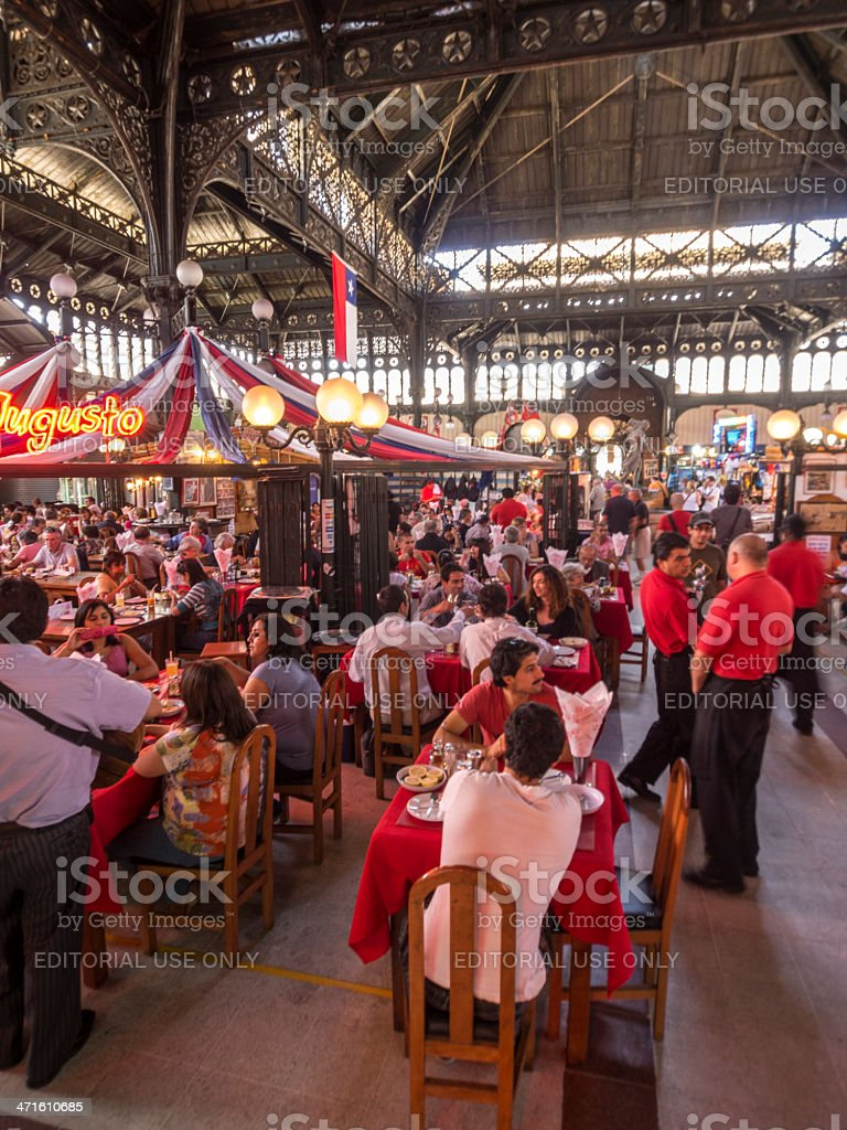 Santiago Market food, Chile stock photo