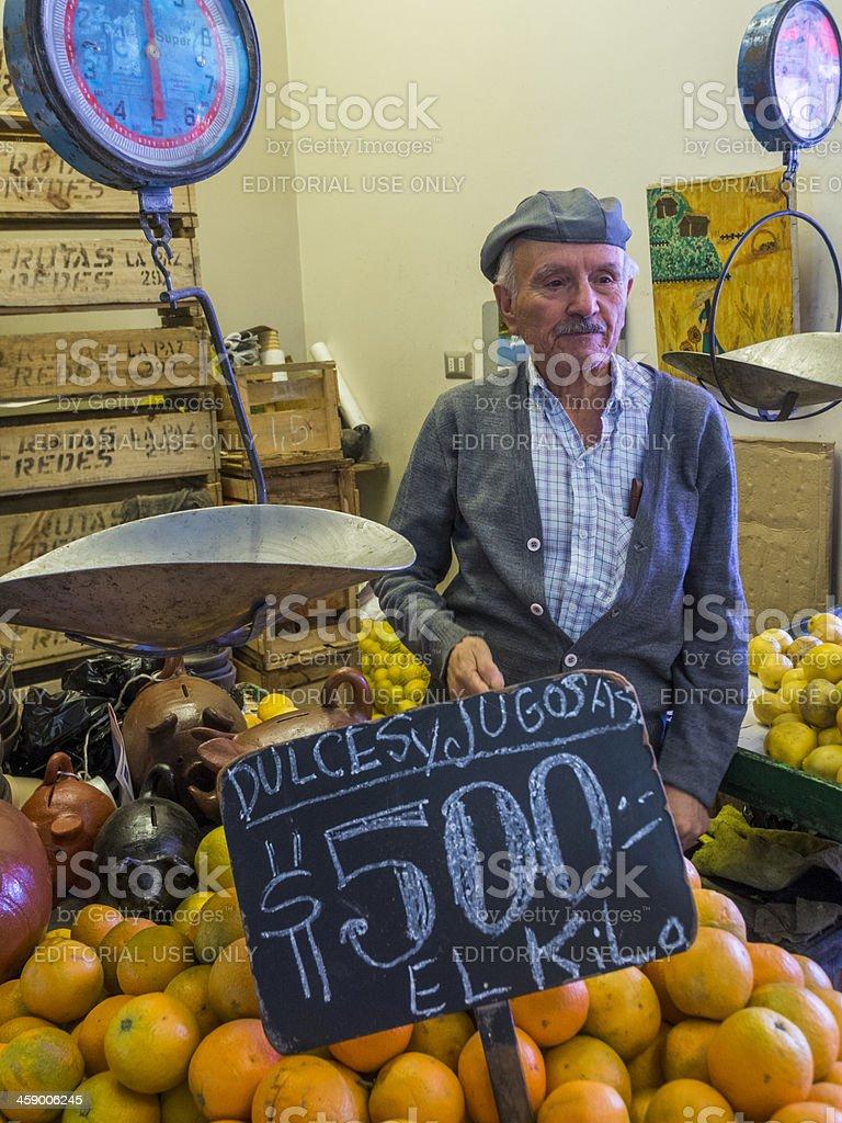 Santiago Market stall, Chile stock photo