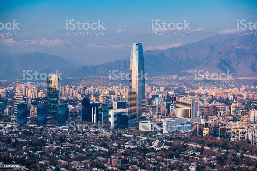 Santiago of Chile stock photo