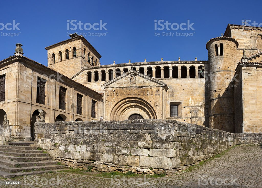 Santillana del Mar Church stock photo