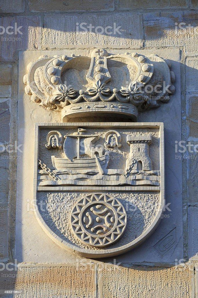Santillana del Mar' coat of arms stock photo