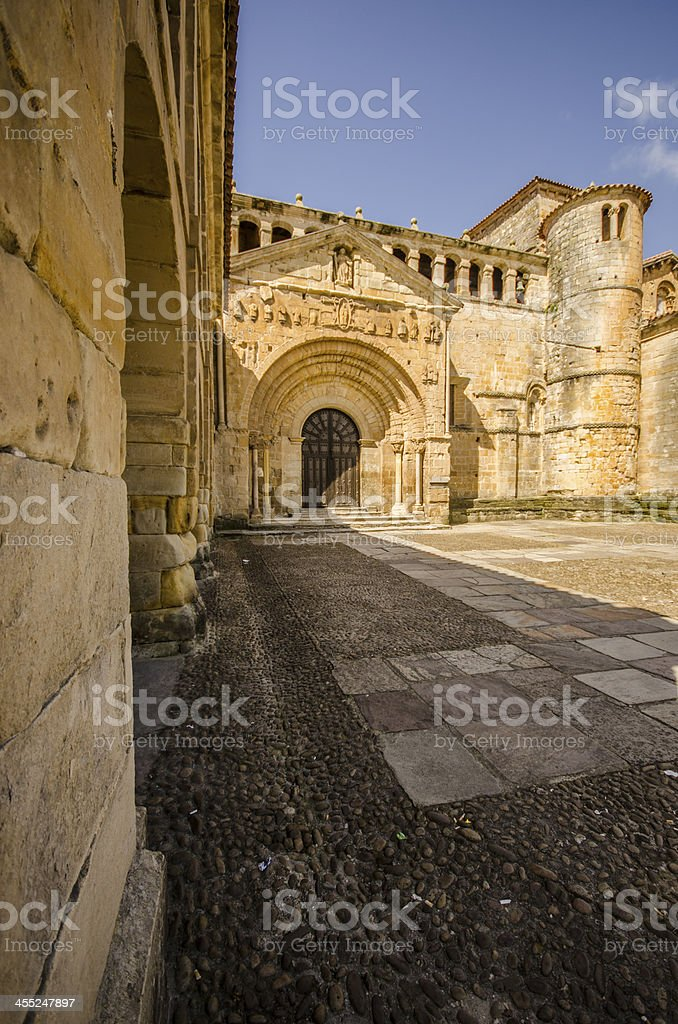 Santillana del Mar's church stock photo