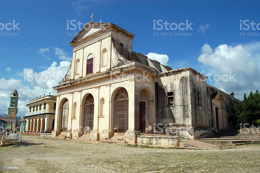 Santisima Church in Trinidad, Cuba stock photo