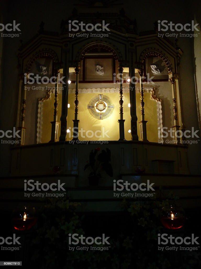 Santisimo en la casita de Dios Libre Puebla stock photo