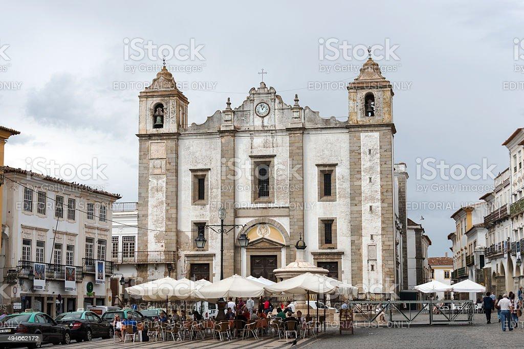 Santo Antonio Church in E‰vora stock photo