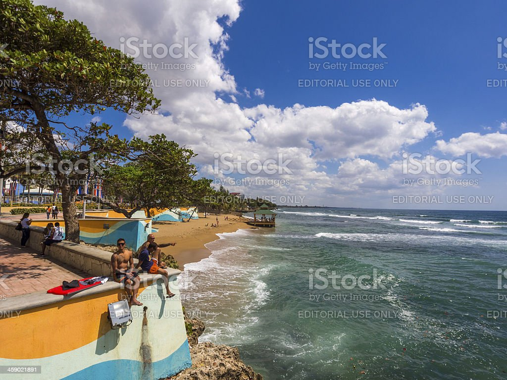 Santo Domingo waterfront, Dominican Republic royalty-free stock photo