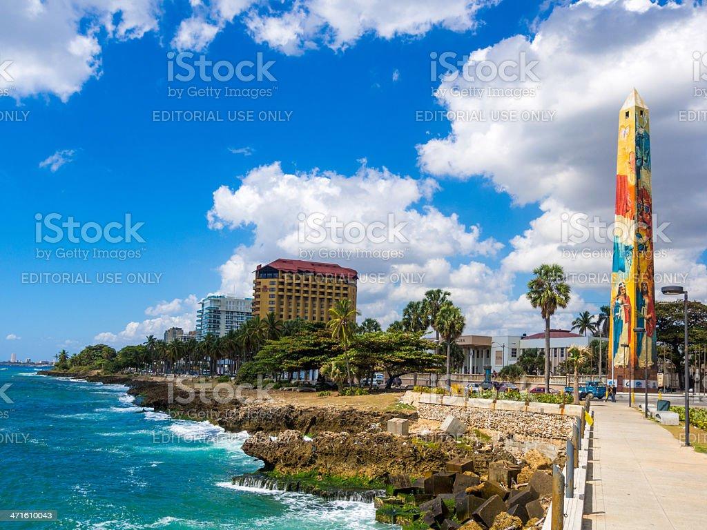 Santo Domingo waterfront, Dominican Republic stock photo