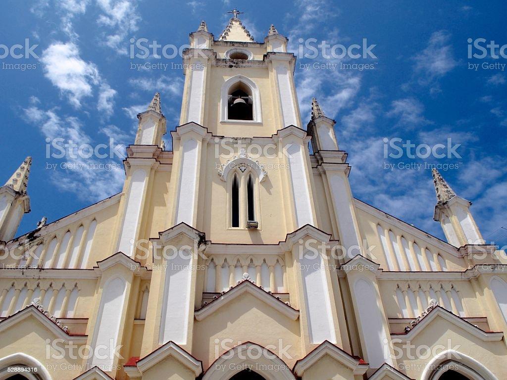 Santo Ángel Custodio church stock photo